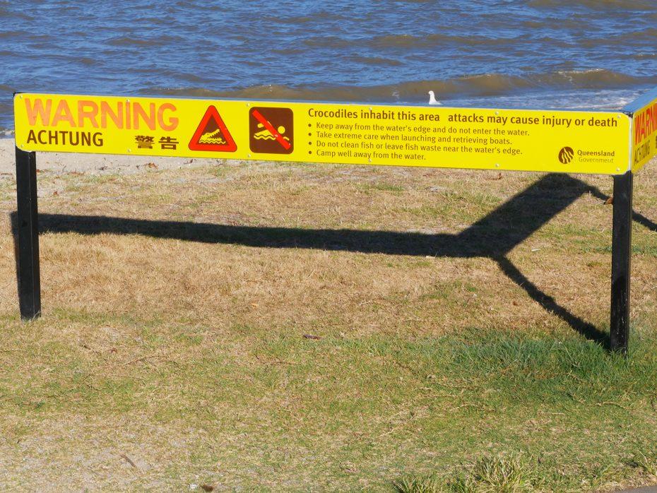Pas op voor krokodillen!