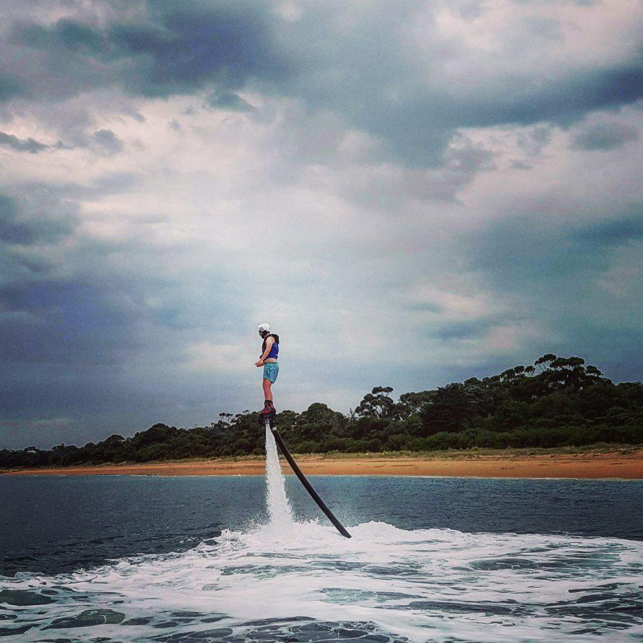Flyboarden op Phillip Island