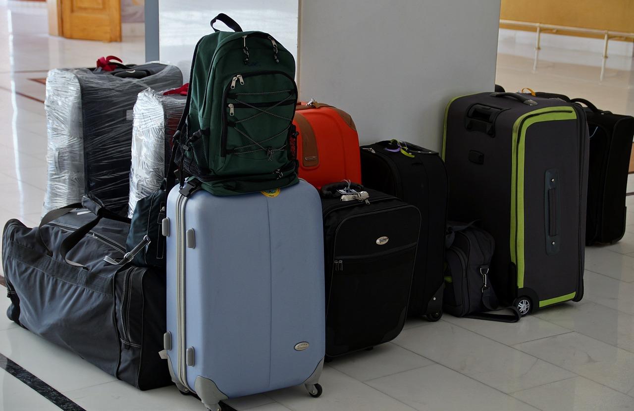 Bagage verhuizen tijdens emigratie