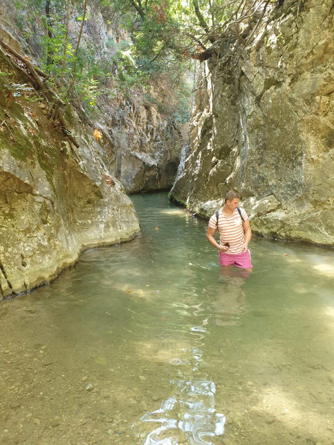 Canyoning op Samos Griekenland